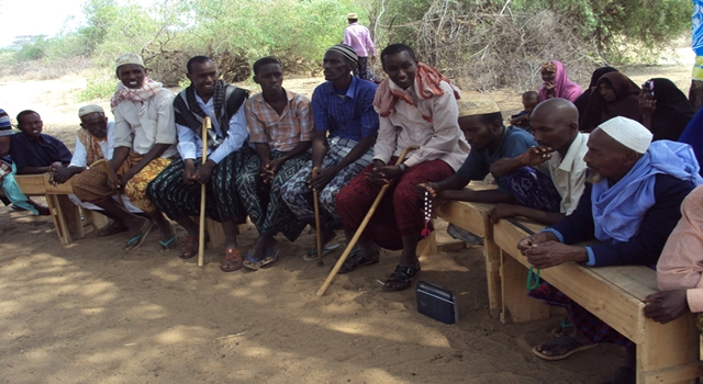 COMMUNITY MEMBER RECEIVES EDUCATION DURING THE T.B EDUCATION IN GURUFA AREA OF GARISSA